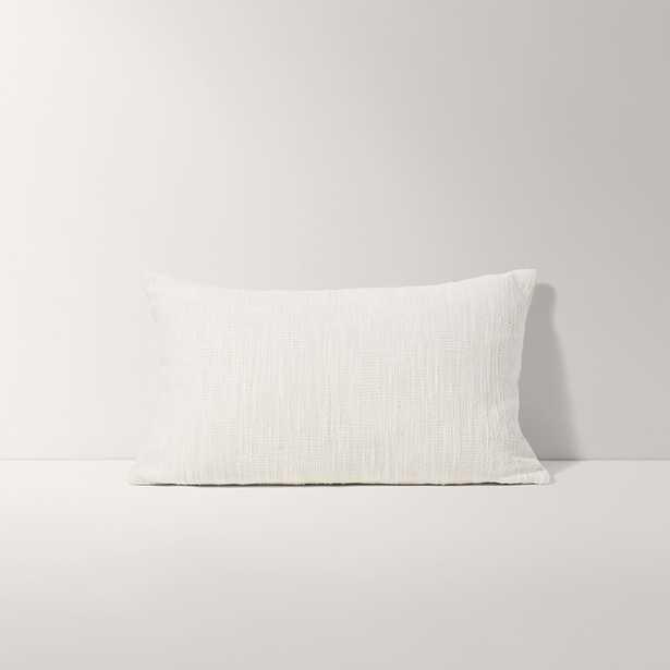 Burrow Ivory White Lumbar Pillow, Solid Pattern - Decorative Pillows - Burrow