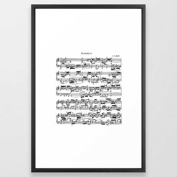 Sheet Music by Bach Framed Art Print - Society6