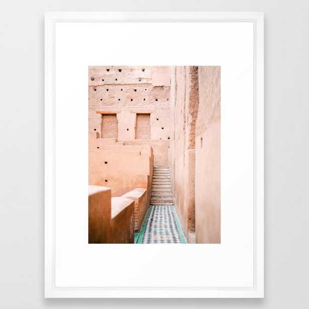 Colors of Marrakech Morocco - El badi palace photo print   Pastel travel photography art Framed Art Print - Society6