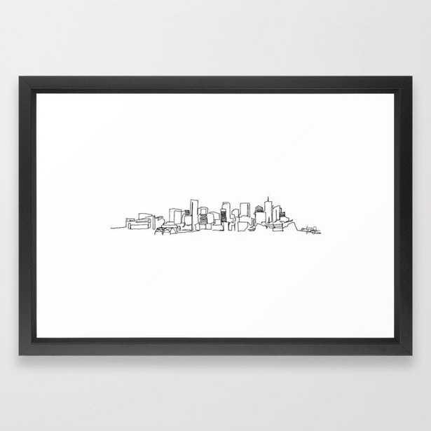 Denver Skyline Drawing, Vector Black Frame - Society6