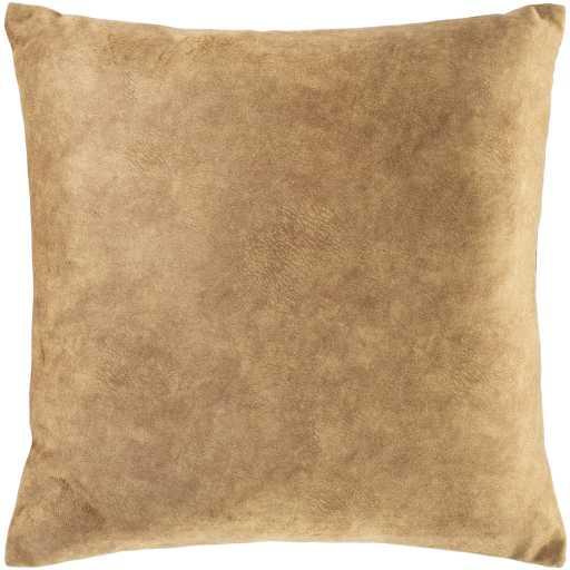 """Stow Pillow, 20"""" x 20"""", Camel - Haldin"""
