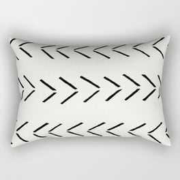 """white arrow mudcloth chevron Rectangular Pillow - Small (17"""" X 12"""") - Society6"""