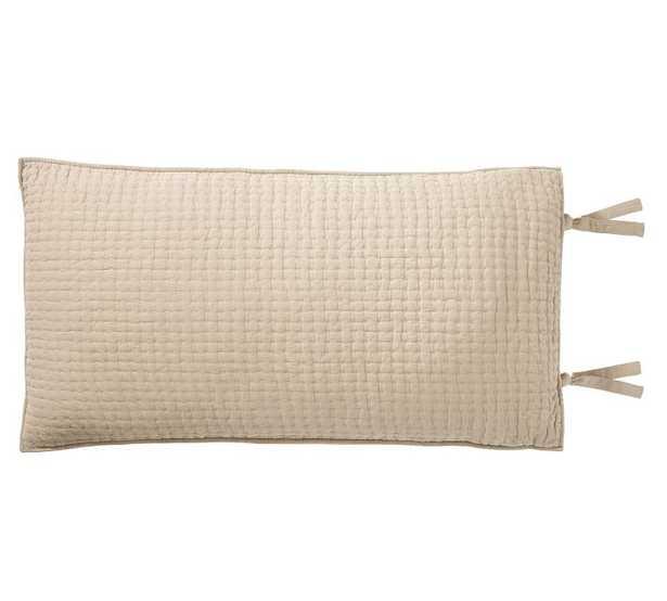 Pick-Stitch Handcrafted Sham, King, Flax - Pottery Barn