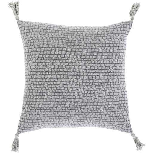 """Hadlee Dot Pillow Cover, 22"""" x 22"""", Gray - Cove Goods"""