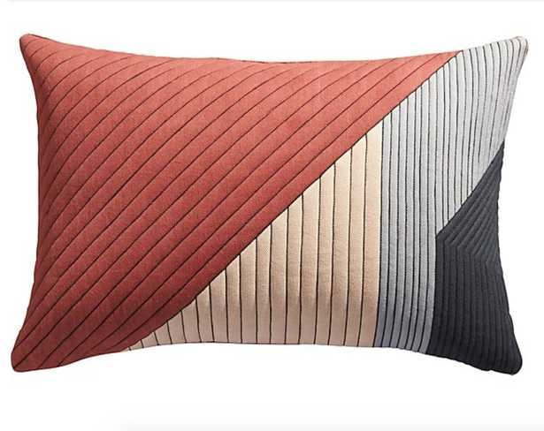 """18""""x12"""" pata pillow with feather-down insert - CB2"""