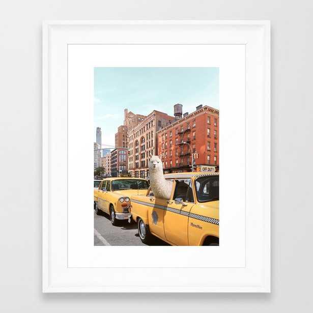 Alpaca in New York Framed Art Print by Paul Fuentes Photo - Society6