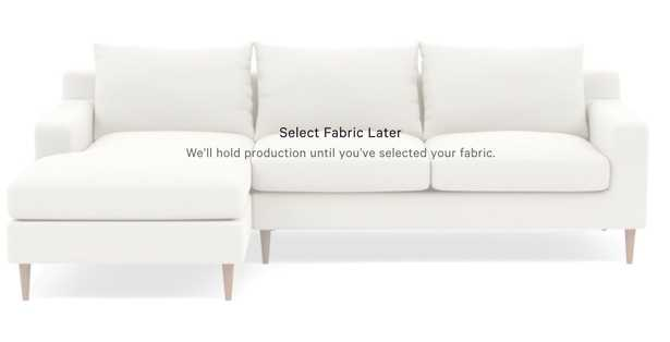 SLOAN Custom Sectional Sofa with Left Chaise - Interior Define