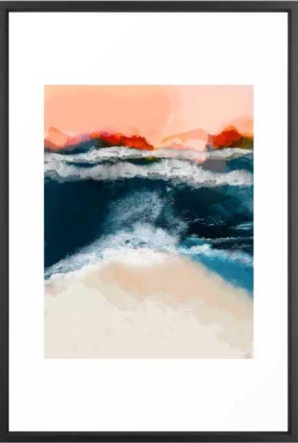 water world Framed Art Print - Society6