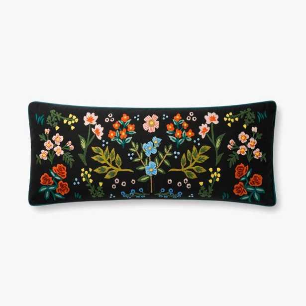 P6028 Rp Black / Multi Pillow - Poly Insert - Loma Threads