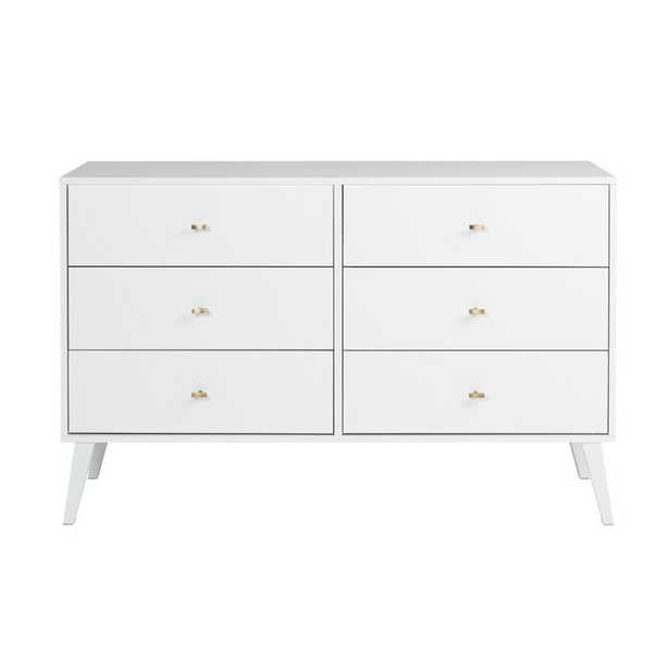 Stinnett Mid Century Modern 6 Drawer Double Dresser - Wayfair