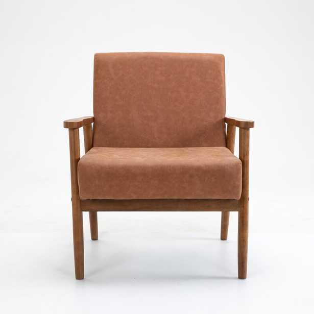 "Mccaleb 29.5"" W Faux Leather Armchair - Wayfair"