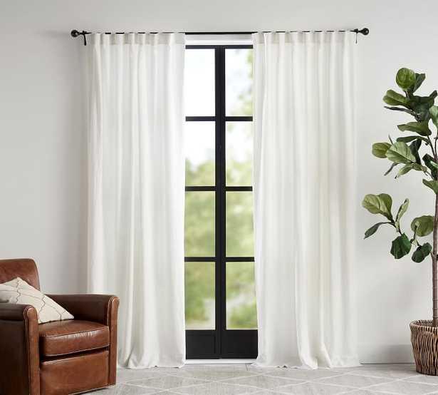 "Custom Classic Belgian Linen Curtain, 54 x 144"", Classic Ivory - Pottery Barn"