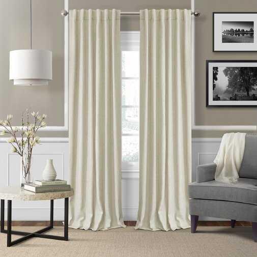 Aston Solid Room Darkening Thermal Rod Pocket Single Curtain Panel - Wayfair
