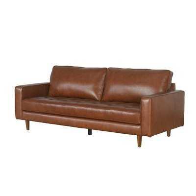 Idris Leather Sofa - Wayfair