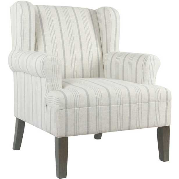 London Wingback Chair - Dove Gray/Gray Washed - Birch Lane