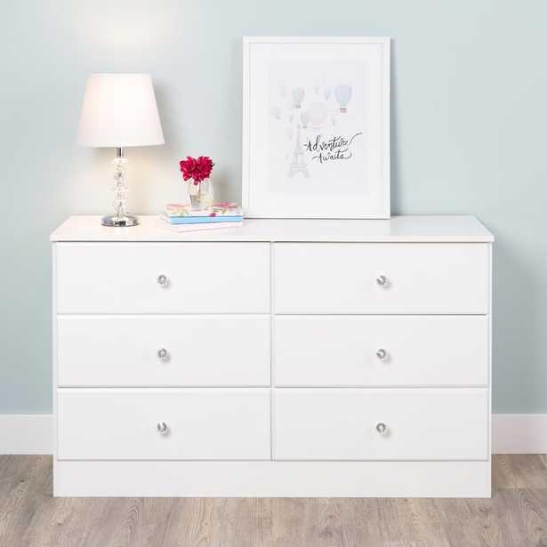 Doyle 6 Drawer Double Dresser - Crystal Hardware - Wayfair