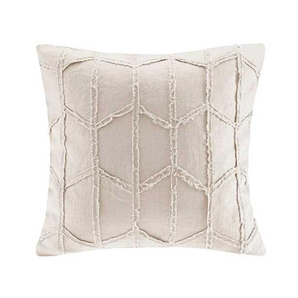 Frayed Geo Linen Lumbar Pillow - AllModern