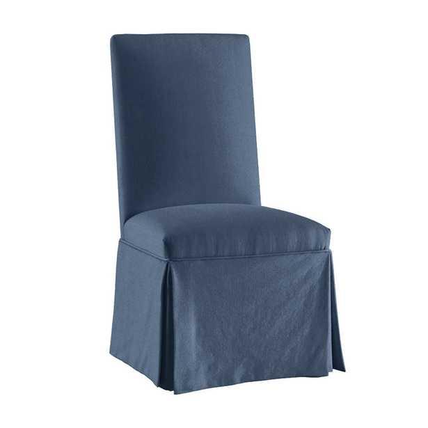 Parsons Chair Slipcover - Suzanne Kasler Signature Duck Slipcover - Indigo - Ballard Designs