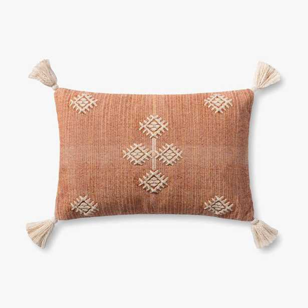 """PILLOWS P4146 RUST / MULTI 13"""" x 21"""" Cover w/Poly - ED Ellen DeGeneres Crafted by Loloi Rugs"""