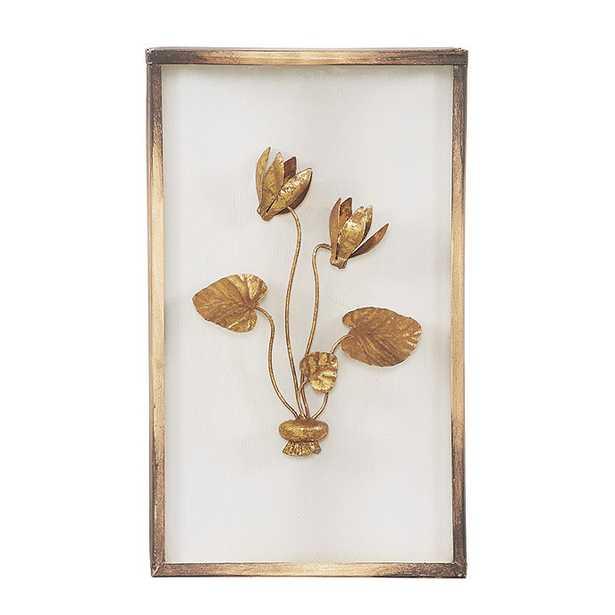 Fleur de Tole Gold Wall Décor- Plaque II - Ballard Designs