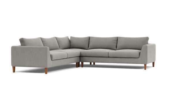 Asher Corner Sectional Sofa - Mortar - Interior Define