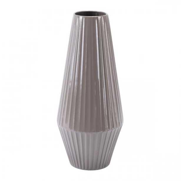 Metal Md Vase Dark Gray - Zuri Studios