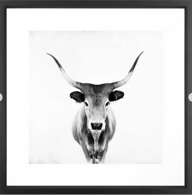 """Honey - black and white Art Print -22""""x22""""- Frame: Vector Black - Society6"""