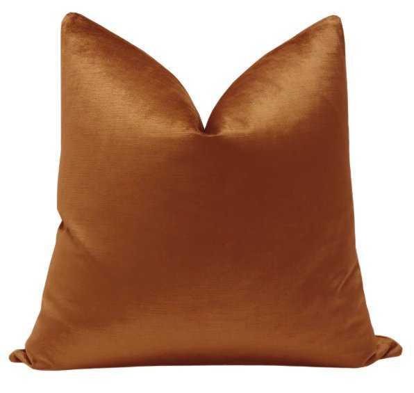 Luxe Velvet // Amber-Pillow Cover 20 x 20 - Little Design Company