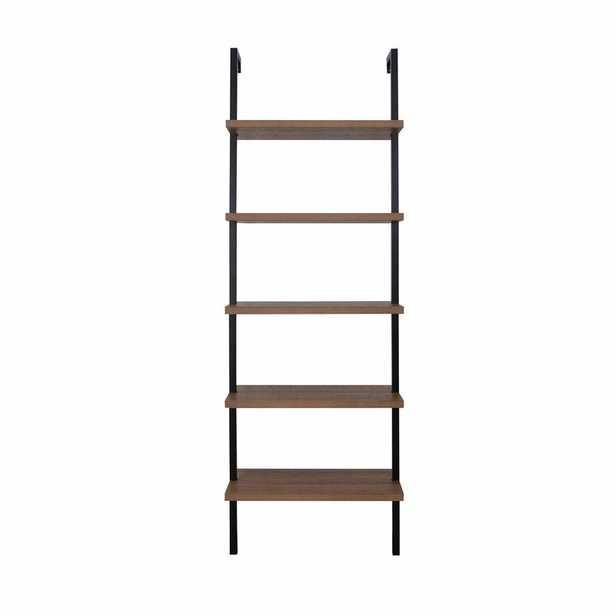 """Mederos 72.5"""" H x 24"""" W Steel Ladder Bookcase - Wayfair"""