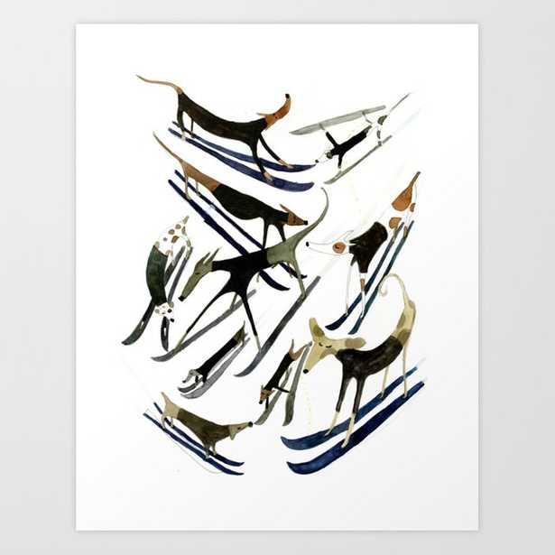 Beatnik Dogs Skiing Art Print - Society6