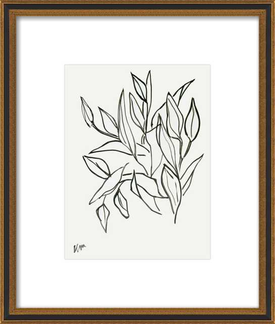 """Lilies_with matte_FINAL:16.5x19.5"""" - Artfully Walls"""