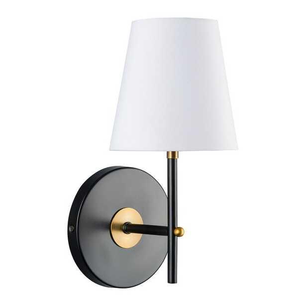 Solomon 1-Light LED Armed Sconce - Antique Brass - Wayfair