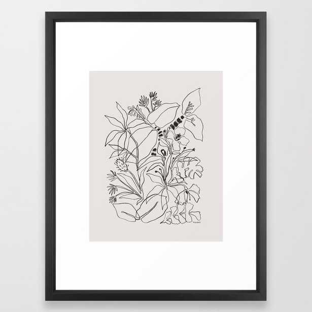 Charcoal Tropics Framed Art Print - Society6