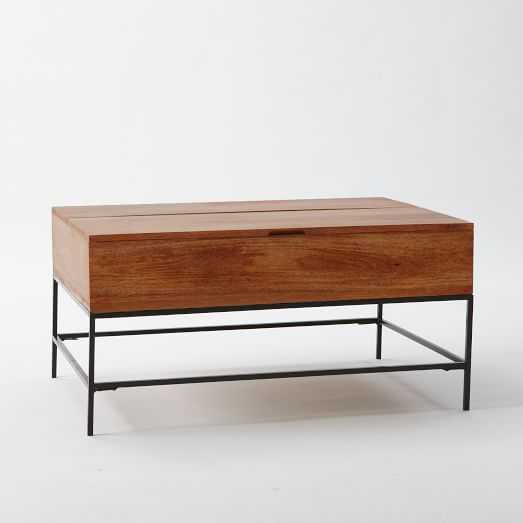 """Industrial Storage Coffee Table, Small (36""""), Cafe - West Elm"""