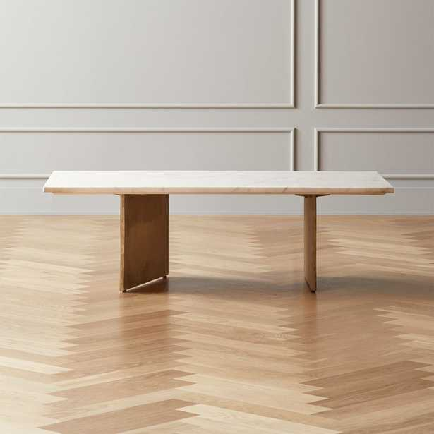 Oblique Marble Coffee Table - CB2