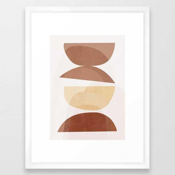abstract minimal 7 Framed Art Print by ThingDesign - Society6