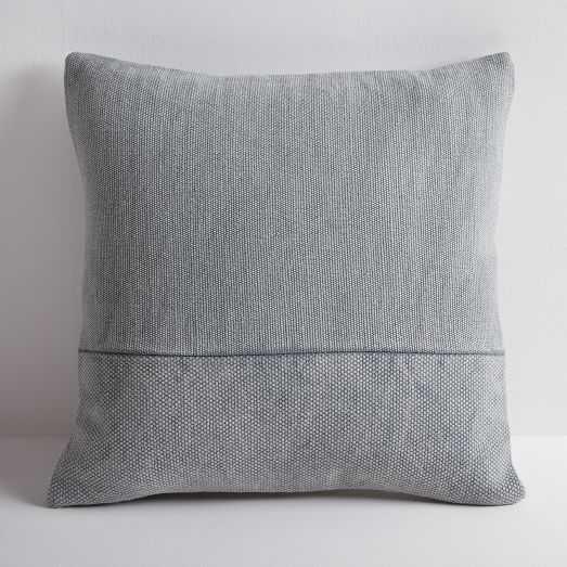 """Cotton Canvas Pillow Cover, Iron, 18""""x18"""" - West Elm"""