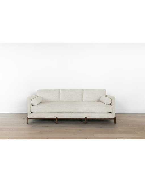 Morrison Wood Base Sofa - Alabaster Crypton - McGee & Co.