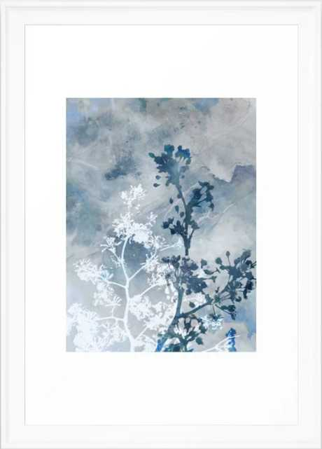 Blue Floral Botanical Watercolor Painting Framed Art Print - Society6
