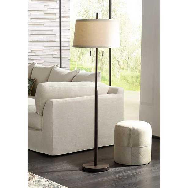 Possini Euro Nayla Bronze Finish Steel Floor Lamp - Lamps Plus