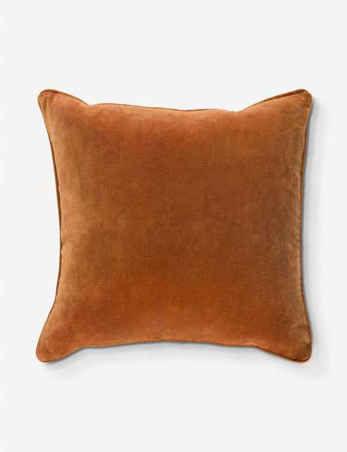LIAM PILLOW, RUST With Polyester Insert - Lulu and Georgia