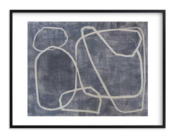 Squiggles // 40x30 // Rich Black Wood Frame with border - Minted