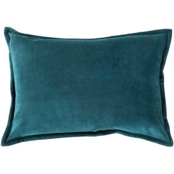 Captain Velvet Lumbar Pillow Cover_Teal - Wayfair