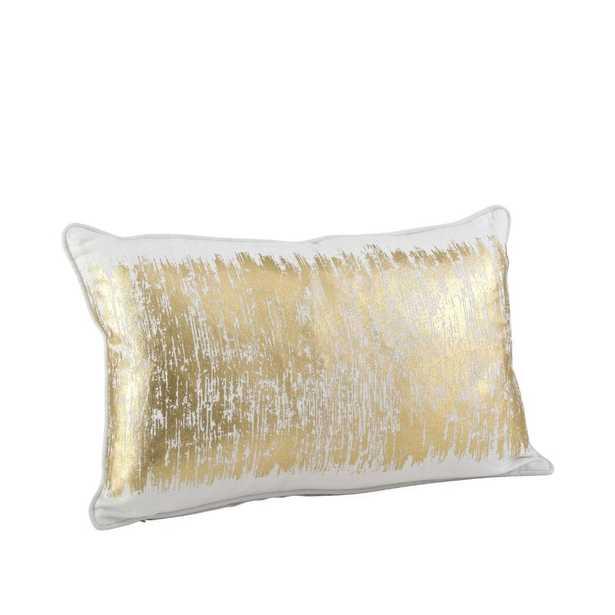 Garlan Metallic Banded Cotton Lumbar Pillow - Wayfair