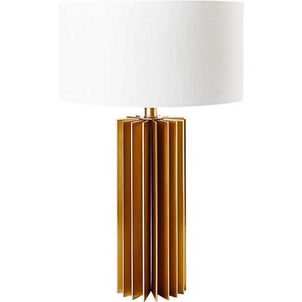 LEIDEN BRUSHED BRASS TABLE LAMP - CB2