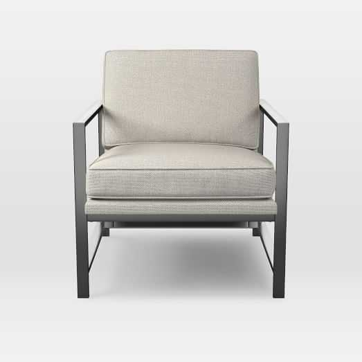 Metal Frame Chair, Basket Slub, Feather Gray - West Elm