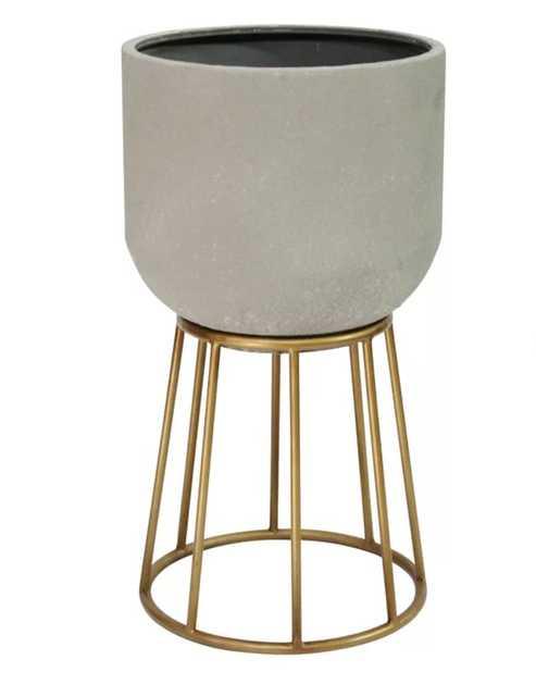 Doukala Metal Pot Planter - Wayfair