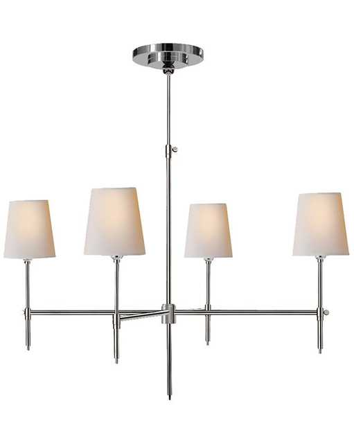 BRYANT LARGE CHANDELIER - POLISHED NICKEL - McGee & Co.