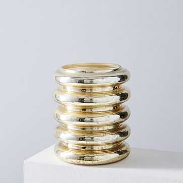 Stacked Mercury Candles, Gold, Set of 5 - West Elm