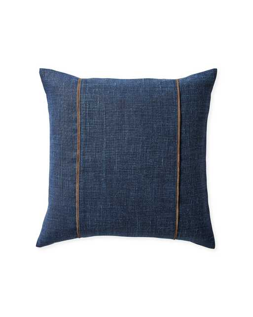 """Kentfield 20"""" SQ Pillow Cover - Navy - Insert sold separately - Serena and Lily"""